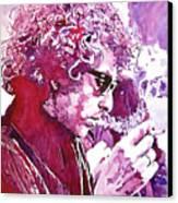 Bob Dylan Canvas Print by David Lloyd Glover