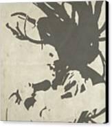 Bob Marley Grey Canvas Print