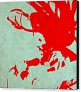 Bob Marley Red Canvas Print by Naxart Studio