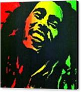 Bob Marley Smile Canvas Print by Siobhan Bevans
