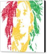 Bob Marley Typography  Canvas Print by Jimi Bush