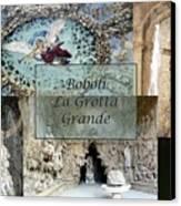 Boboli La Grotta Grande 2 Canvas Print