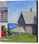 Bogdanov House Monhegan Canvas Print by Thor Wickstrom