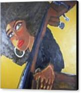 Bonita Chocolate Brown Bass Canvas Print by Samuel Banks