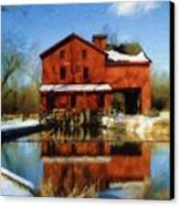 Bonneyville In Winter Canvas Print