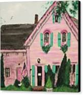 Bookstore In Cape Cod Canvas Print by Suzanne  Marie Leclair