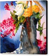 Boot Bouquet Canvas Print