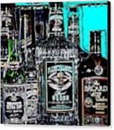 Boozy Line Up With Aqua  Canvas Print