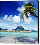 Bora Bora, Lagoon Resort Canvas Print by Himani - Printscapes