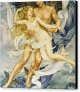 Boreas And Oreithyia Canvas Print by Evelyn De Morgan