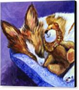 Bos And The Lion - Papillon Canvas Print by Lyn Cook
