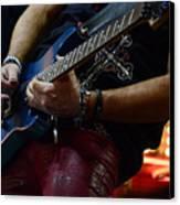 Boss Guitar Player Canvas Print by Bob Christopher