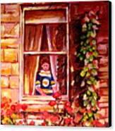 Boston Bruin Fan Canvas Print by Carole Spandau
