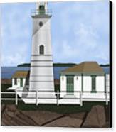 Boston Harbor Lighthouse On Brewster Island Canvas Print