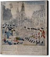 Boston Massacre.  British Troops Shoot Canvas Print