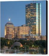 Boston Night Skyline Iv Canvas Print