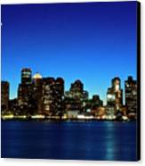 Boston Skyline Canvas Print by By Eric Lorentzen-Newberg