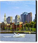 Boston Skyline Canvas Print by Elena Elisseeva