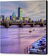 Boston Skyline Sunset Canvas Print by Joann Vitali