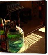 Bottle And Light Canvas Print by Murtaza Humayun Saeed