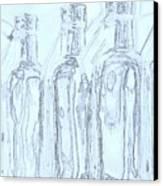 Bottles 2 Canvas Print