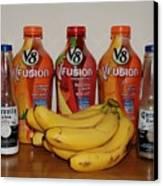 Bottles N Bananas Canvas Print