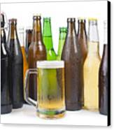 Bottles Of Beer And Beer Mug.  Canvas Print