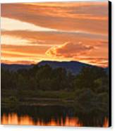 Boulder County Lake Sunset Vertical Image 06.26.2010 Canvas Print