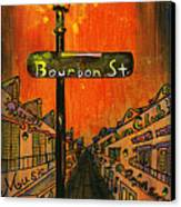Bourbon Street Lamp Post Canvas Print