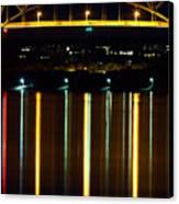 Bourne Bridge At Night Cape Cod Canvas Print by Matt Suess
