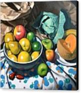 Bowl Of Friut Canvas Print by Kevin Lawrence Leveque