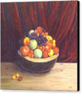 Bowl Of Fruits Canvas Print