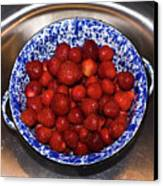 Bowl Of Strawberries 1 Canvas Print by Douglas Barnett