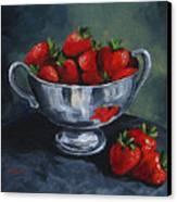Bowl Of Strawberries  Canvas Print