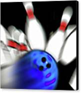 Bowling Sign 2 - Strike  Canvas Print by Steve Ohlsen