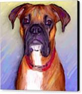 Boxer Beauty Canvas Print by Karen Derrico