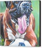 Boxer Soccer Canvas Print by Lee Ann Shepard