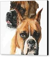 Boxers Canvas Print by Barbara Keith
