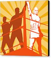 Boxing Champion Canvas Print