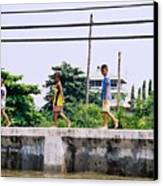 Boys In Bangkok Canvas Print