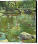 Bradford Ma College Pond Canvas Print