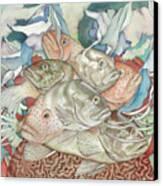Brain Coral Party Canvas Print