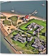 Brant Point Light House Nantucket Island 2 Canvas Print by Duncan Pearson