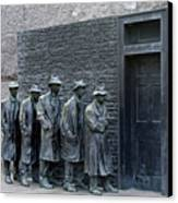 Breadline At The Fdr Memorial - Washington Dc Canvas Print by Brendan Reals