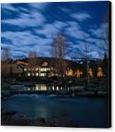 Breckenridge Blue River Night Canvas Print by Michael J Bauer