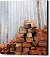 Brick Piled Canvas Print by Stephen Mitchell