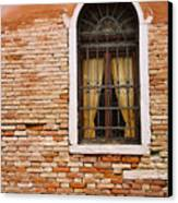 Brick Window Canvas Print