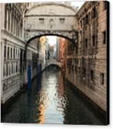Bridge Of Sighs In Venice In Morning Light Canvas Print