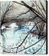 Bridge Over Cocalico Creek  Canvas Print