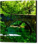 Bridge Over The Wissahickon Canvas Print by Bill Cannon